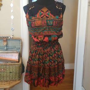 VTG Boho Carole Little Beades Mini Dress!